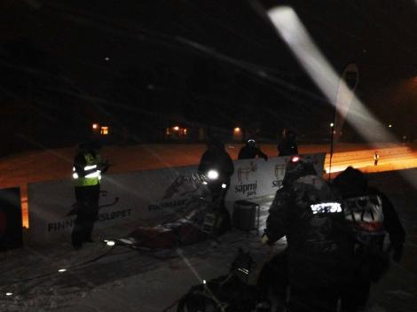Dag Torulf har akkurat ankommet Karasjok. Foto: Øyvind Hansen