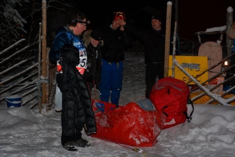 Fra starten i natt: Dag Torulf, Svein, Tore og Øyvind. Foto: Ole Chr. Gulbrandsen