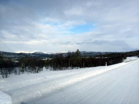 Forholdene er slett ikke verst. Slik så det ut på Karasjokfjellet i formiddag. Foto: Ole Chr. Gulbrandsen
