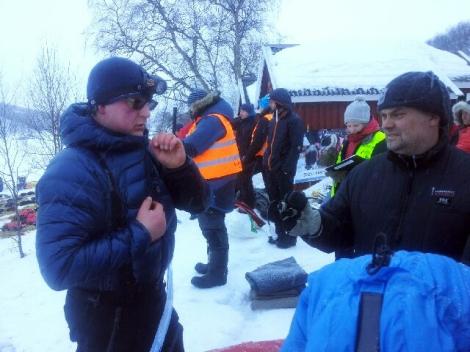 Dag Torulf og Øyvind diskuterer neste etappe. Foto: Birger Altmann