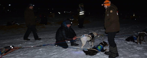 Sne sjekkes etter ankomst Neiden 2. Foto: Ole Chr. Gulbrandsen