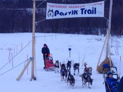 Målgang i Pasvik Trail. Foto:Pål Johannessen