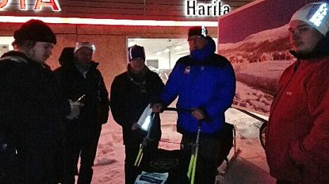 Dag Torulf med ny-sleden før avreise. Foto: Karl-Erik Andersen
