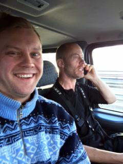 selfie i bilen